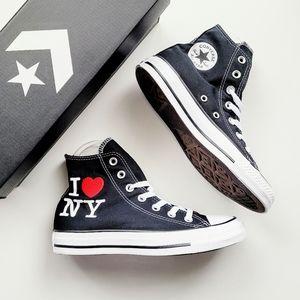 Converse CTAS Hi Black/Red/White I Love New York